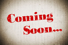 Coming Soon. Sign on grunge wall Royalty Free Stock Images