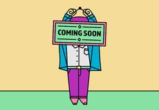 COMING SOON Sign illustration for businesses Stock Image