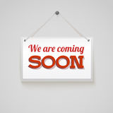 Coming soon sign. Royalty Free Stock Image