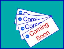 Coming soon sign. The picture shows coming soon sign icon Stock Image