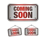 Coming soon signs Stock Photos