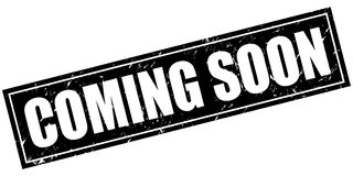 Coming soon stamp. Illustration on isolated white background stock illustration