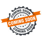 Coming soon stamp Royalty Free Stock Image