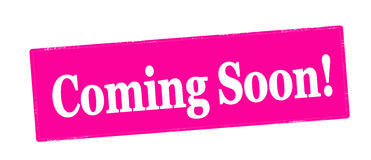 Coming soon. Stamp with text coming soon inside,  illustration Royalty Free Stock Photo