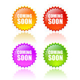 Coming soon star Royalty Free Stock Photo