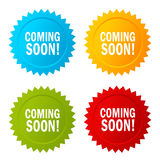 Coming soon star sticker icon Royalty Free Stock Photos
