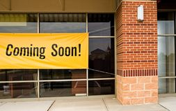 Coming soon store opening Royalty Free Stock Images
