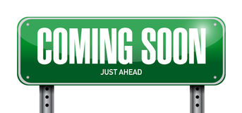 coming soon street sign concept Royalty Free Stock Images