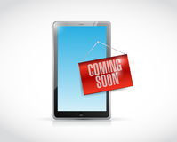 coming soon tablet illustration design Stock Photos