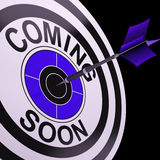 Coming Soon Target Shows Campaign Announcement Royalty Free Stock Image