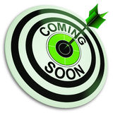 Coming Soon Target Shows New Product Royalty Free Stock Images