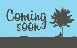 Coming soon temporary banner. Page, vector illustration Stock Photo