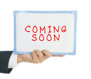 Coming soon text Royalty Free Stock Photo