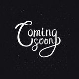 Coming Soon Texts on Abstract Black Background Royalty Free Stock Photo