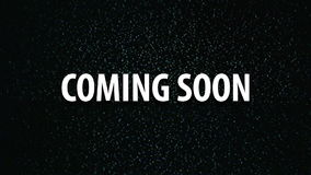 Coming soon title on tv noise background, stock video
