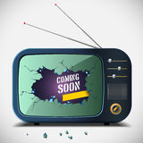 Coming soon TV vector illustration Royalty Free Stock Image
