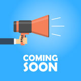Coming soon vector banner. Royalty Free Stock Photo