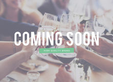 Coming Soon Waiting Absence Advertisement Commercial Concept Royalty Free Stock Image