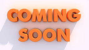 Coming soon and white wall. Coming soon 3d text and white wall Royalty Free Stock Photos