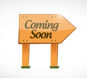 Coming soon wood sign concept Royalty Free Stock Image