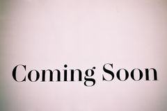 Coming soon. Coming soon words Royalty Free Stock Photo