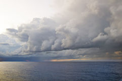 Coming storm. Landscape with heavy thunderstorm clouds Stock Image