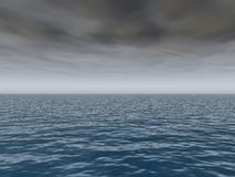 Coming Storm Over Sea. Approching Storm on open sea Royalty Free Stock Images