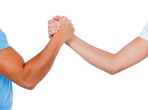Coming to terms with a handshake Royalty Free Stock Photos