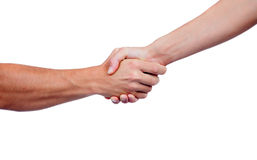 Coming to terms with a handshake Royalty Free Stock Photography