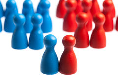 Coming together concept, pawn figures Royalty Free Stock Photo