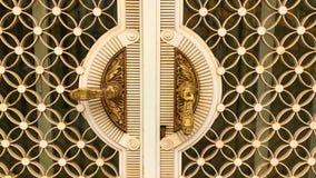 Coming towards a gold golden door knob handle stock footage