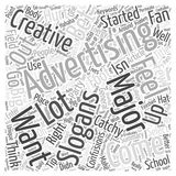 Coming Up With Catchy Advertising Slogans word cloud concept word cloud concept vector background Stock Images