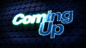 Coming Up Glitz Sparkle Text Royalty Free Stock Image