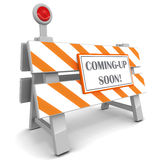 Coming up soon Stock Photo
