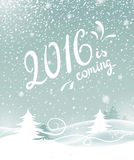 2016 is coming. Vector illustration. All elements can be edited to fit your layout Stock Photography