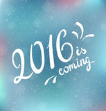 2016 is coming. Vector illustration. All elements can be edited to fit your layout Stock Image