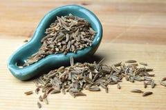 Cominhos da semente de alcaravia foto de stock