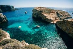 Comino海岛,马耳他 库存照片