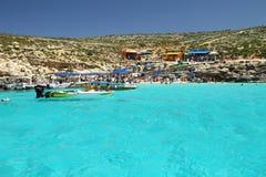 comino błękitny laguna Malta Zdjęcia Royalty Free