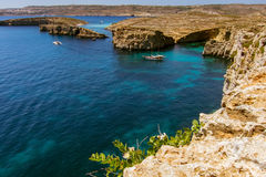 Comino Blue Lagoon. View over to the Blue Lagoon on Comino Royalty Free Stock Photos