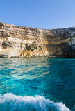 Comino caves Stock Image