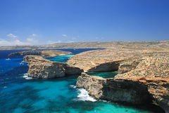 Comino cliffs. Cliffs of Comino island. (Kemmuna Stock Photography