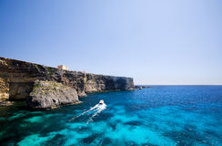 Comino Coast Stock Image