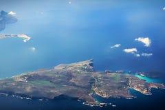 Comino Island aerial bird view Royalty Free Stock Photography