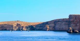Comino island with blue lagoon at Malta. EU Royalty Free Stock Image