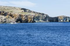 Comino is a island of the Maltese archipelago. Comino is a small island of the Maltese archipelago between the islands of Malta and Gozo in the Mediterranean Sea Royalty Free Stock Photos