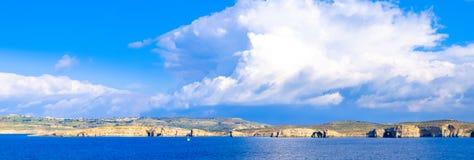 Comino Island panorama, with St. Mary Tower visible -Malta. Arti Stock Photos