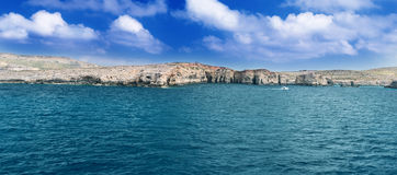 Comino Island Shore horizontal Royalty Free Stock Photos