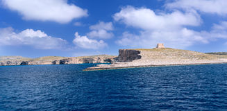 Comino Island Shore. Old fort at Comino Island, Malta Royalty Free Stock Photo
