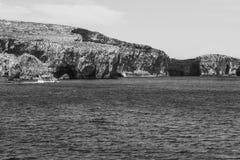 Comino ist eine Insel des maltesischen Archipels Stockbilder